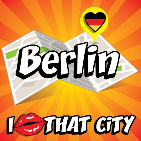that: Pop art Berlin and I love that city typography