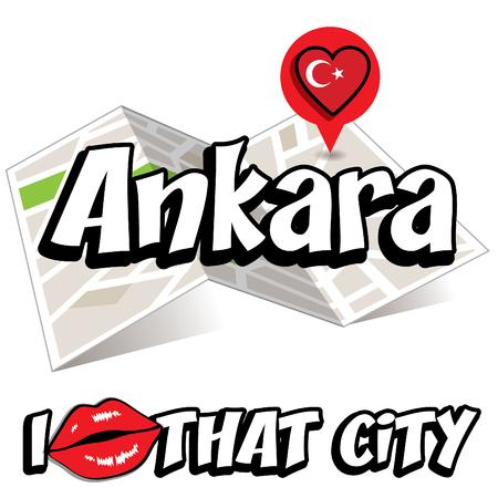 that: Pop art Ankara and I love that city typography