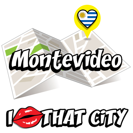 that: Pop art Montevideo and I love that city typography