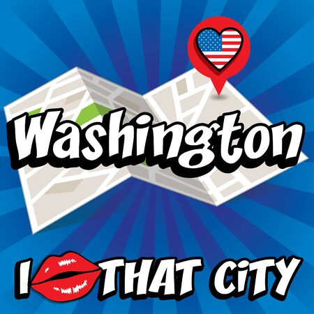that: Pop art Washington and I love that city typography