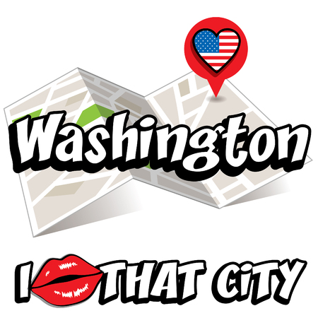 that: Pop art Washington with I love that city typography