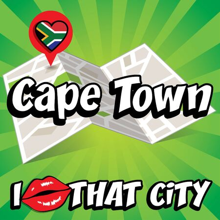 cape town: Pop art Cape Town and I love that city typography