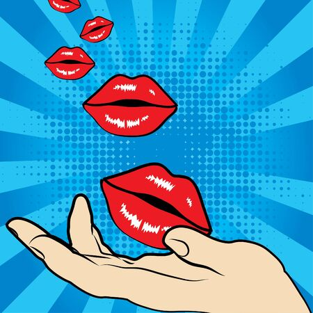 unreal: Pop art lips and hand