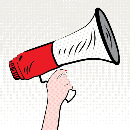 Pop art megaphone design Illustration