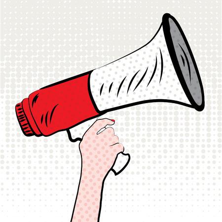 Pop art megaphone design Ilustracja