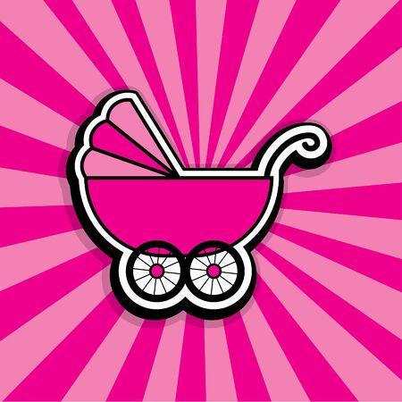 baby stroller: Pop art baby stroller