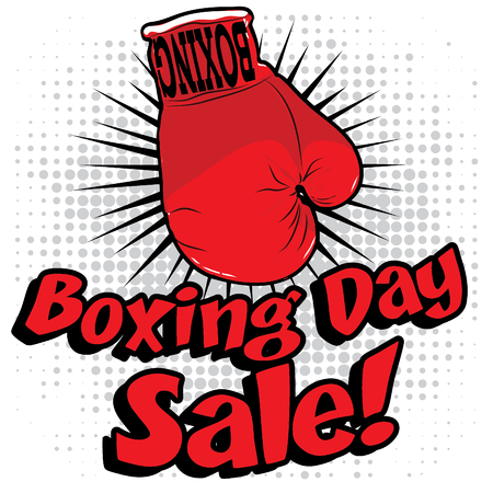 pugilism: Fist with boxing day sale text