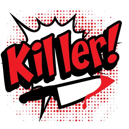 killer: Pop art comics icon Killer Illustration