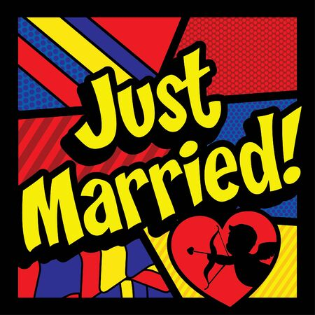 love explode: Pop art comics icon just married