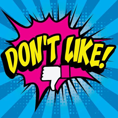 dont: Pop art comics icon dont like