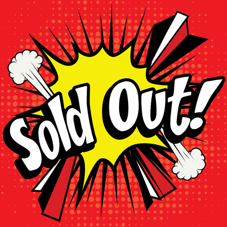 sold out: Pop art comics icon sold out