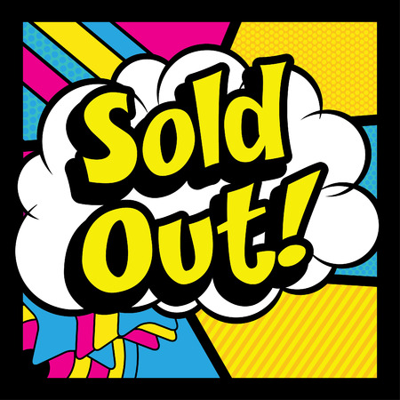 Pop art comics icon sold out