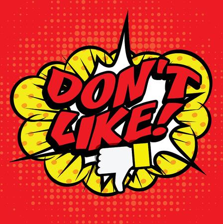 don't: Pop art comics icon dont like