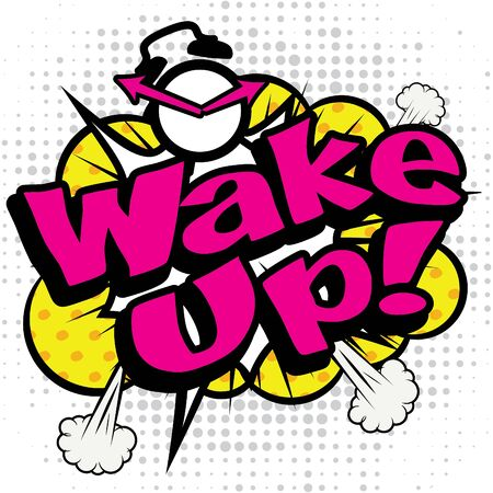Pop art comics icon wake up