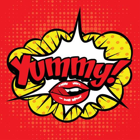 yummy: Pop art comics icon yummy
