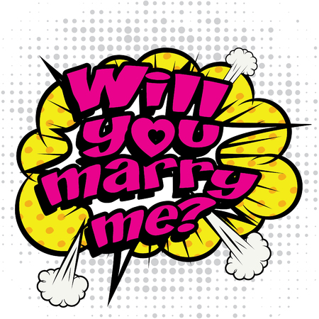 will you marry me: Pop art comics icon will you marry me
