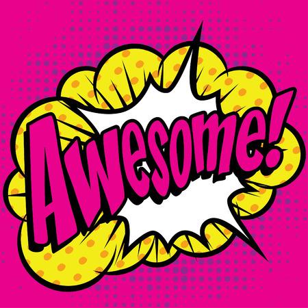 Pop art comics icon awesome  イラスト・ベクター素材