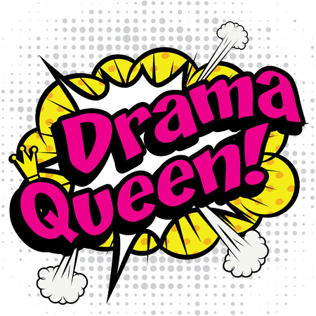 Pop アート コミック アイコン dama 女王 写真素材 - 51191423