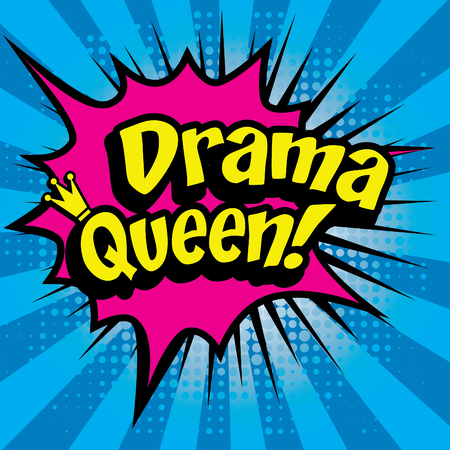 queen blue: Pop art comics icon dama queen Illustration