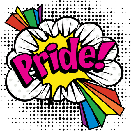 activist: Pop art comics icon pride Illustration