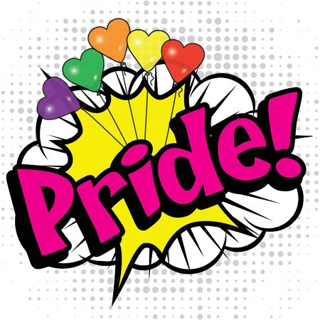 love blast: Pop art comics icon pride Illustration