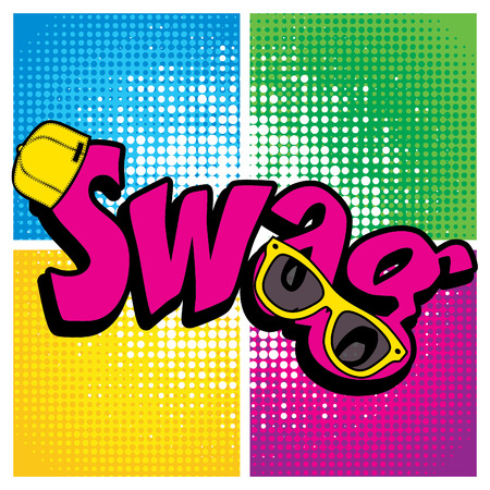 slang: Pop art comics icon swag