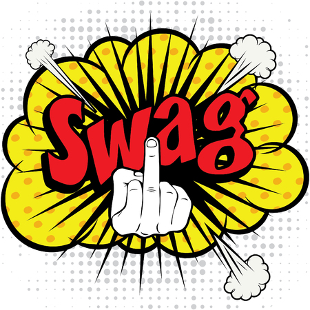 swag: Pop art comics icon swag