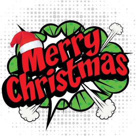 Merry christmas text Illustration