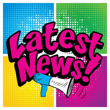 headlines: Pop art comics icon latest headlines typography