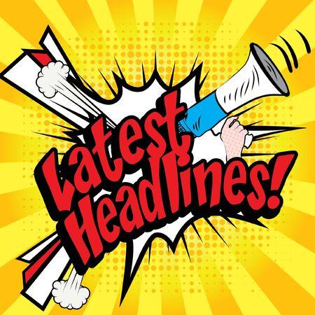 the latest: Pop art comics icon latest headlines typography