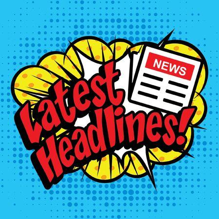 news letter: Pop art comics icon latest headlines typography