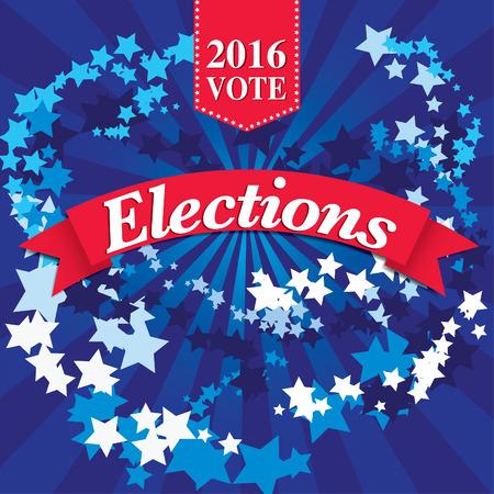 republicans: Pop art American 2016 election vote typography Illustration
