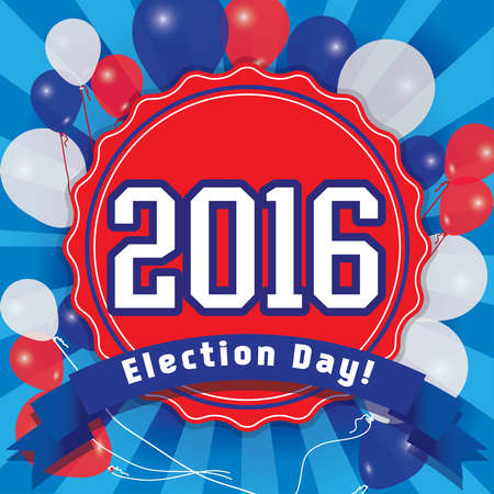 democrats: Pop art American 2016 election day