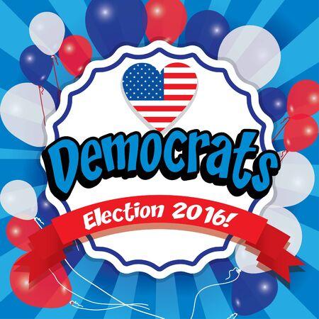 democrats: Pop art American democrats election 2016