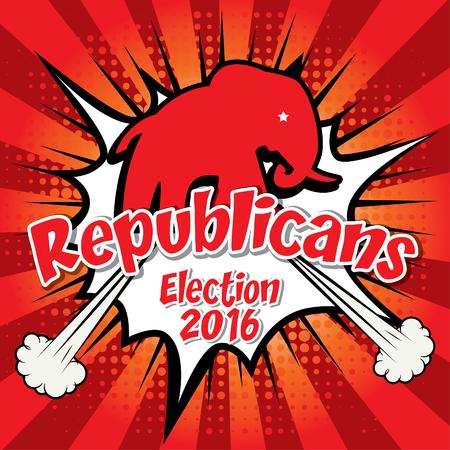 republicans: Pop art American 2016 republicans election