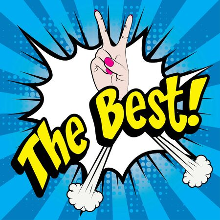 pleased: Pop art comics icon the best typography and yeah gesture