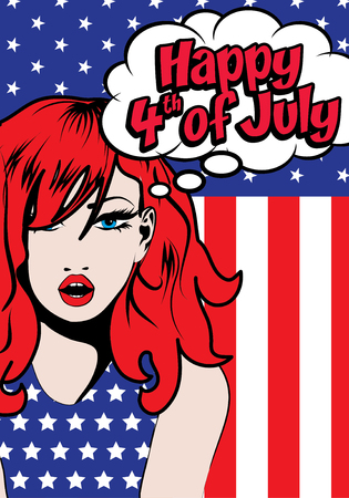 freedom of thought: Woman thinking Have a Happy 4th of July