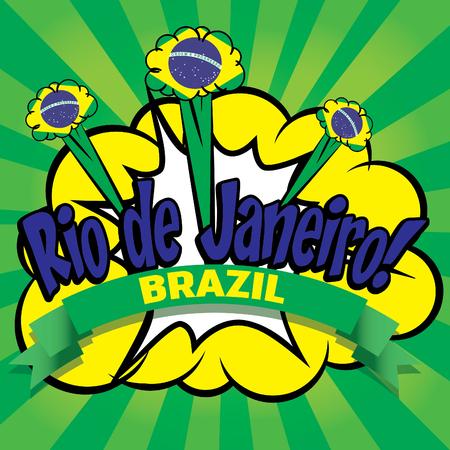 janeiro: Rio de Janeiro design Illustration