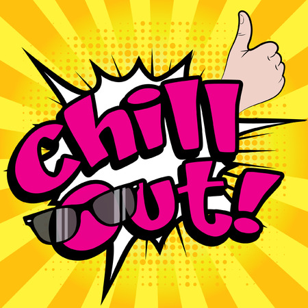 chill out: Pop Art Chill Out! Illustration