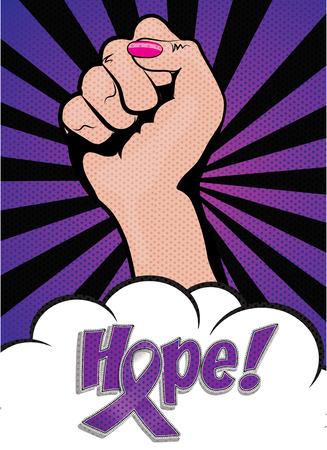 Purple Ribbon Awareness Day banner Vectores