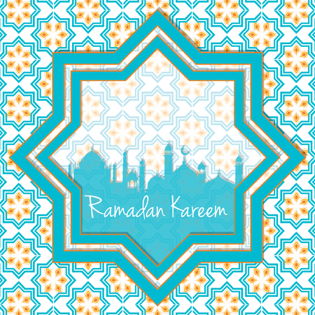 middle: Ramadan Kareem greeting card Illustration