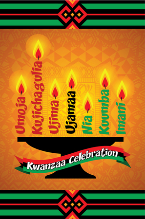 Kwanzaa celebration greeting card