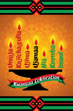 Kwanzaa celebration greeting card