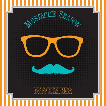 Mustache season pop art design
