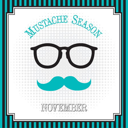 Mustache season pop art Çizim
