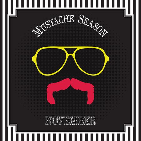 Mustache season pop art Illusztráció