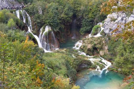 Croatia. Plitvice Lakes National Park. Waterfalls Sostavtsy photo