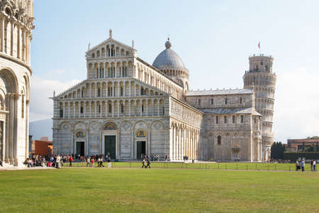 campo dei miracoli: Italy, Pisa. The Cathedral and the Leaning Tower in the Campo dei Miracoli ensemble