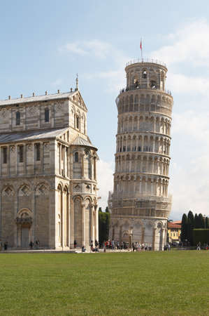 Italy, Pisa. The Cathedral and the Leaning Tower in the Campo dei Miracoli ensemble photo
