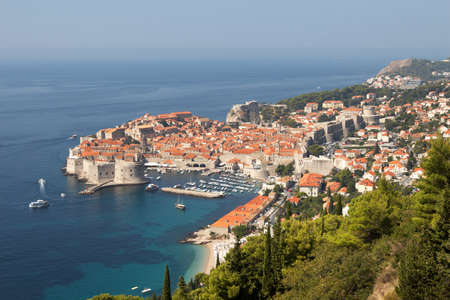 Croatia, Dubrovnik. The top view of the old town photo